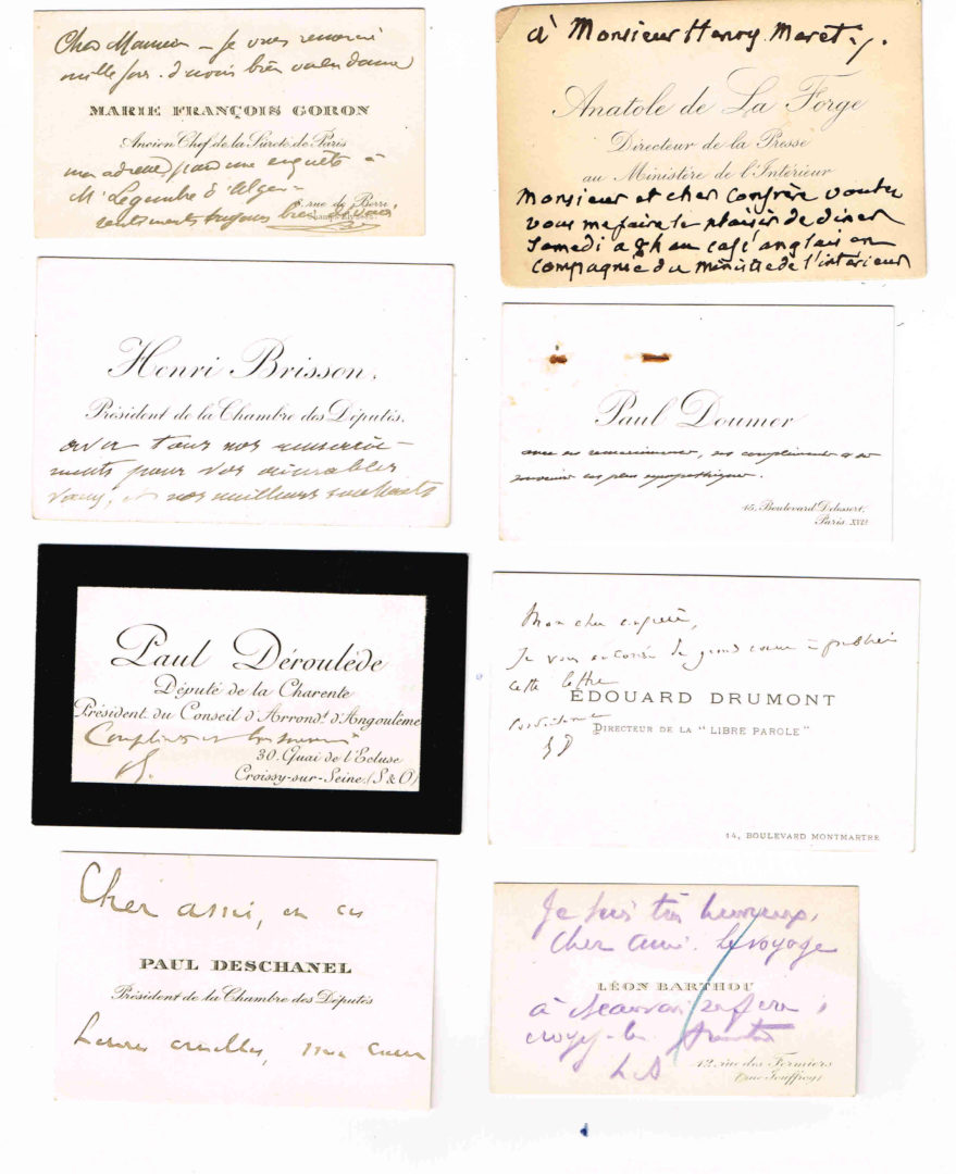 HISTOIRE Ensemble De 14 Cartes Visites Avec Quelques Mots A
