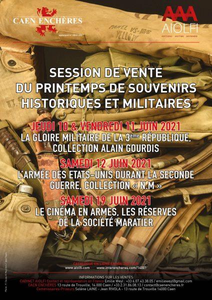 __Juin 2021 - Session de vente du printemps de souvenirs historiques et militaires